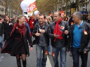 Les militants de la CGT territoriaux de Montreuil