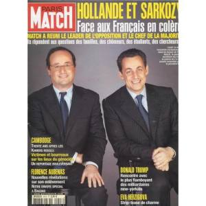 Sarkozy et Hollande et Paris-Match
