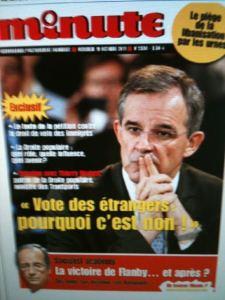 La droite populaire contre le vote des étrangers